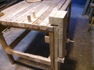 Woodworkers Bench Vise From An Old Clamp 7 Steps With Pictures Instructables