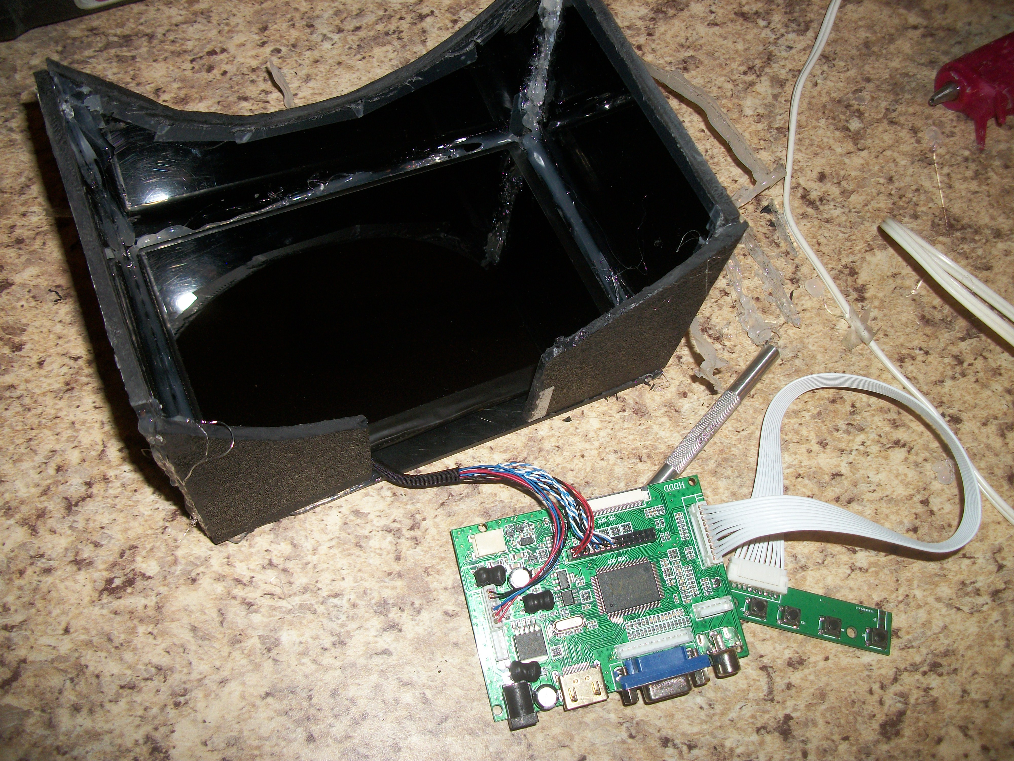 Picture of Putting the HMD Together: