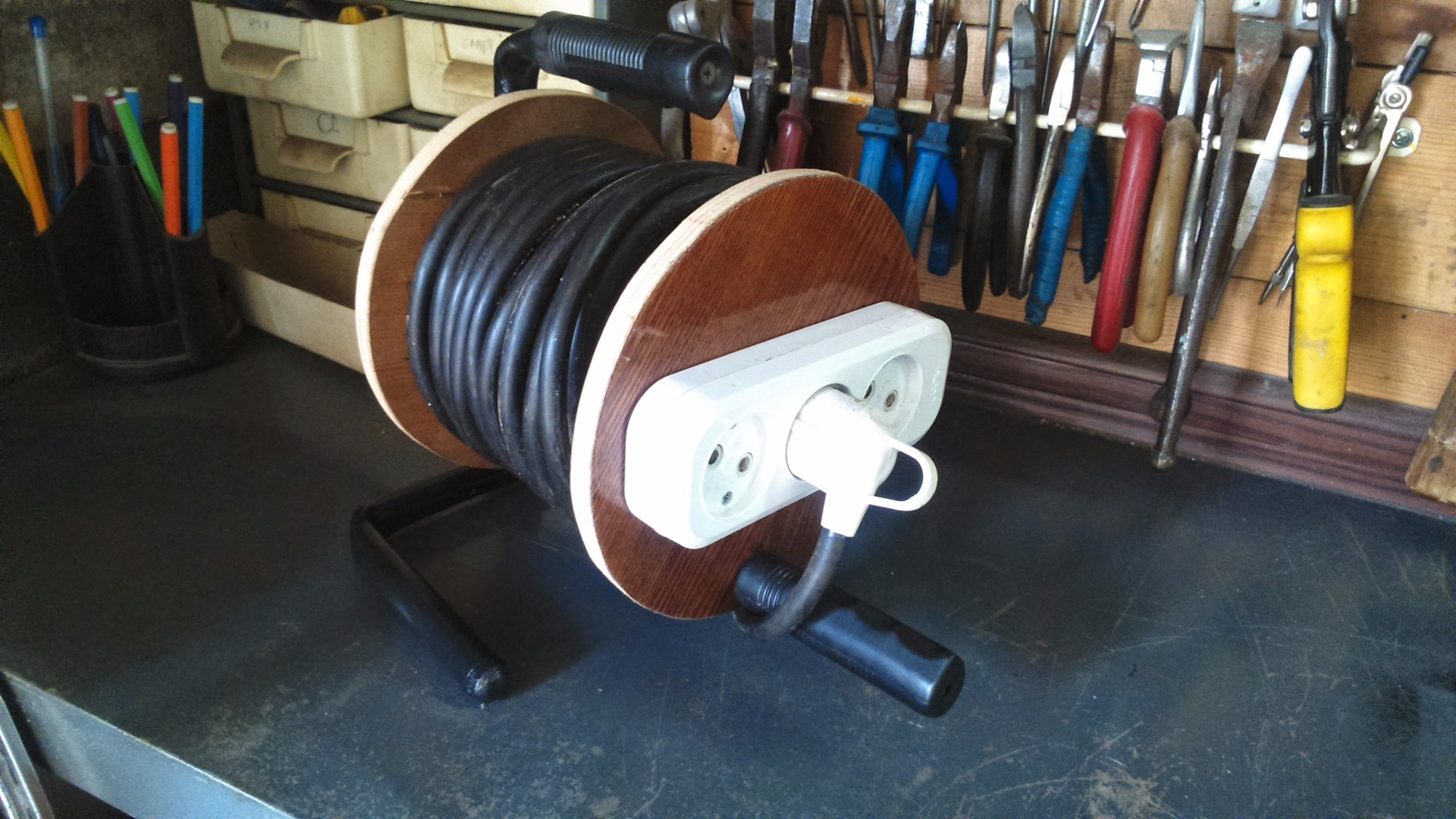Picture of Homemade Extension Cord on the Reel