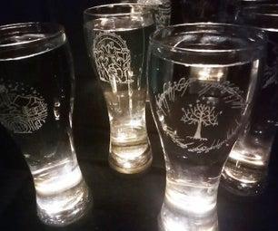 DIY Beer Glass Engraving - Lord of the Rings