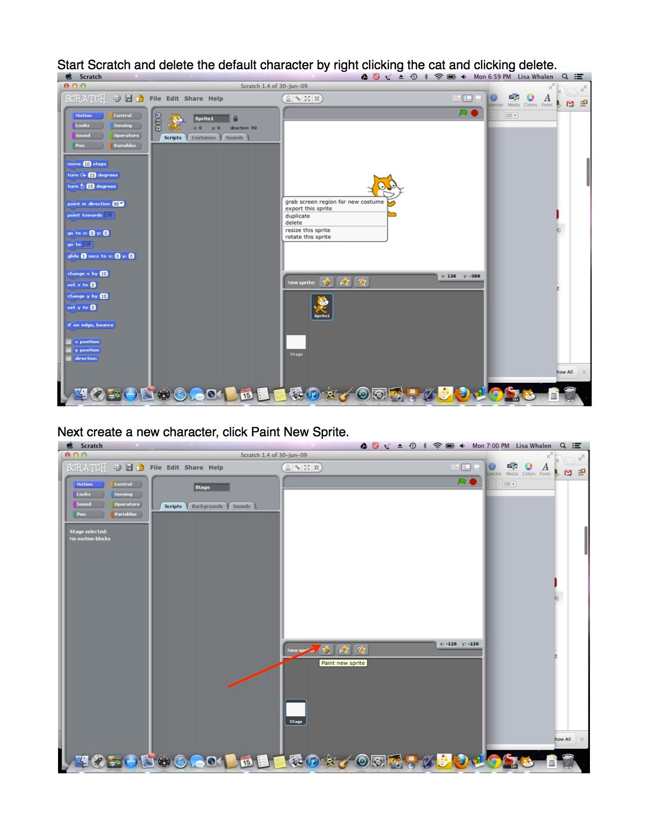Pumpkin Tutorial for the Scratch Programming Language - Steps 1 and 2