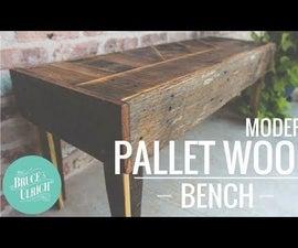 Modern Pallet Wood Bench