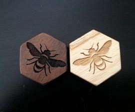 Custom wood and metal Hive set (boardgame)