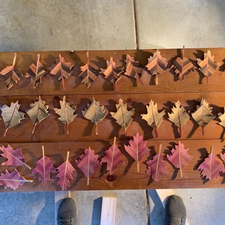 Decorative Leaves From Wood