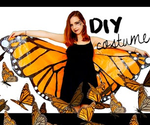 DIY Halloween Costume! Monarch Butterfly   Under 3$ With Garbage Bags!?
