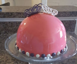 Mirrored Strawberry Cheesecake Entremet