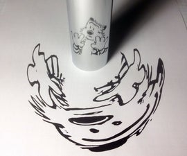 Cylindrical Mirror Art