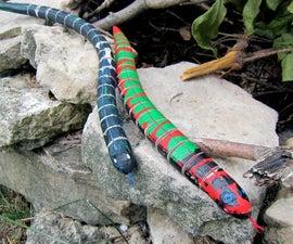 Antiqued Wooden Snake Toys