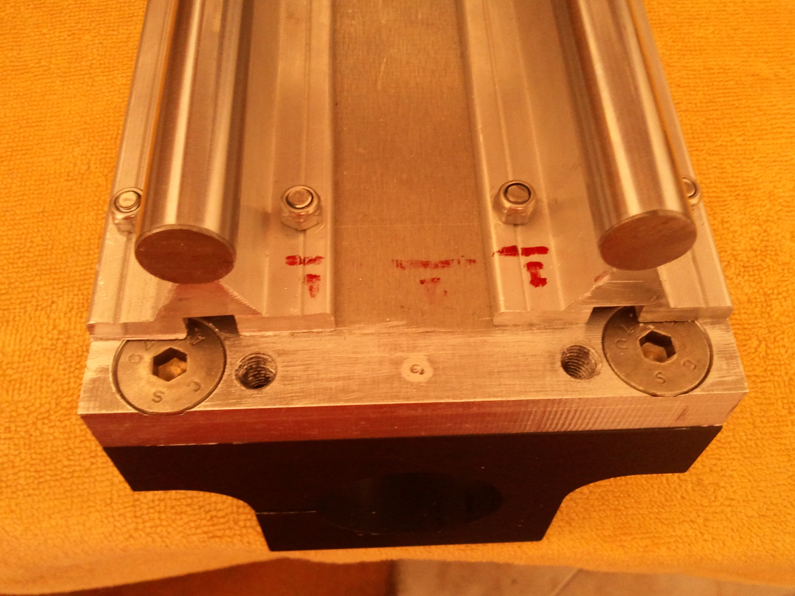 Picture of Z Axis Guide and Transmission System