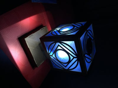 The Completed Holocron Lamp!