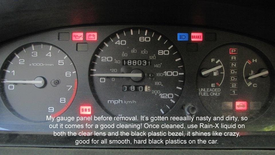 1995 Honda Civic Gauge Cluster Take-Apart & Cleaning: 21 Steps on