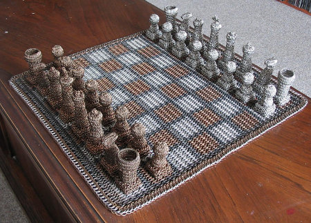 Picture of Chain Mail Chess Set