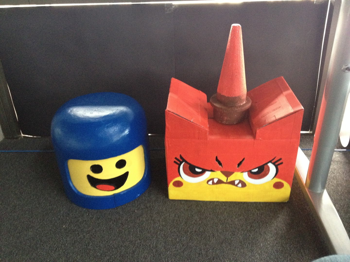 Picture of Lego Movie Masks:  Benny the Spaceman and Angry Unikitty