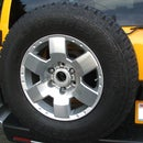 FJ Cruiser- Backup Camera Bezel from old spare tire center cap
