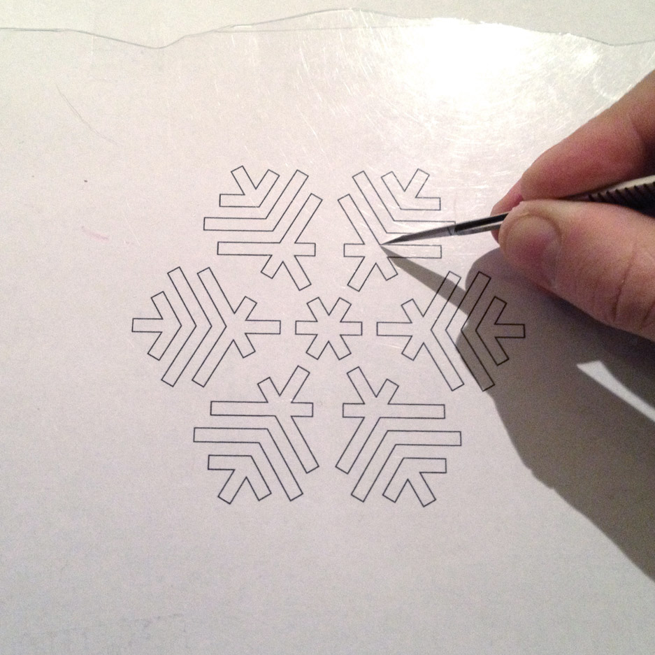 Picture of Creating the Stencil