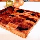 Butcher Block From Oak Log