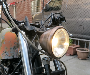 Distressed Motorcycle Headlight