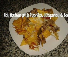 Hot Nachos With Paprika, Jalapenos & Beef Recipe