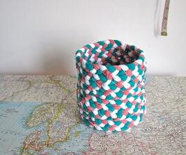 braided t-shirt yarn basket
