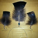 Turkey Feather Earings and Necklace