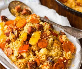 Roasted Vegetable Couscous With Chorizo