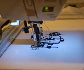 Using the Singer Futura (CNC sewing machine at Pier 9)