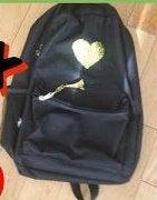 Glitter Stenciled Backpack