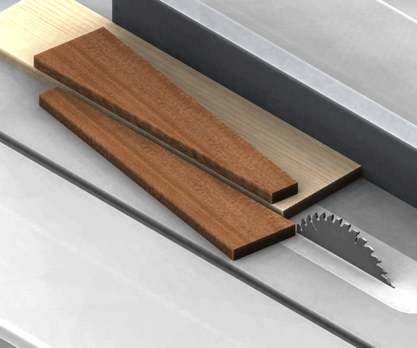 Simple Easy Cheap Method to Cut Tapered or Angled Parts on a Table Saw