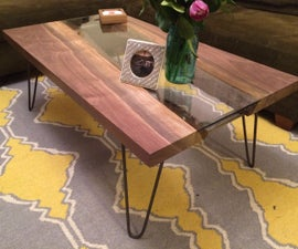 Live edge river coffee table