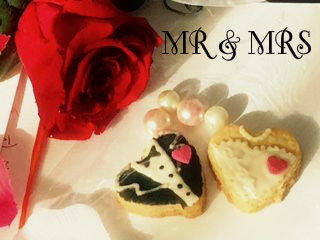 Picture of Personalized Wedding Favours-Bride N Groom Cookies