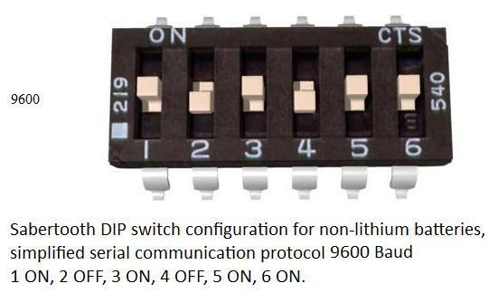 Picture of Sabertooth Dipswitch Setup