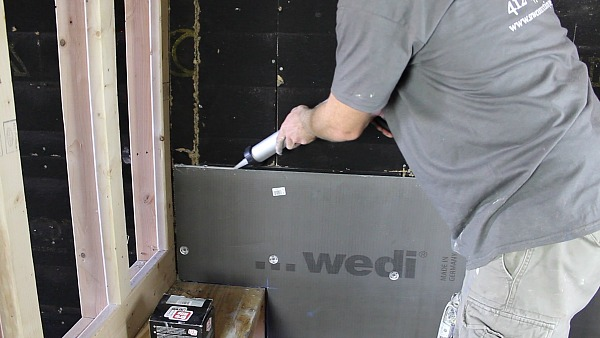Picture of Add Wedi Joint Sealant Between Panels