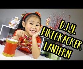 DIY Firecracker Lantern | Chinese New Year Craft