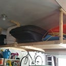 Extra storage shelving in your garage