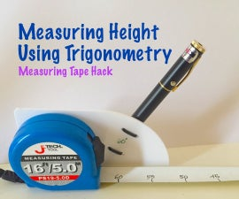 Measuring Height Using Trigonometry (Measuring Tape Hack)