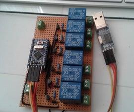 EL Wire - Arduino Mini Pro - Relay Controller Module 6 Channels