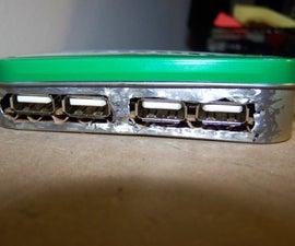 USB Hub inside Altiods Tin