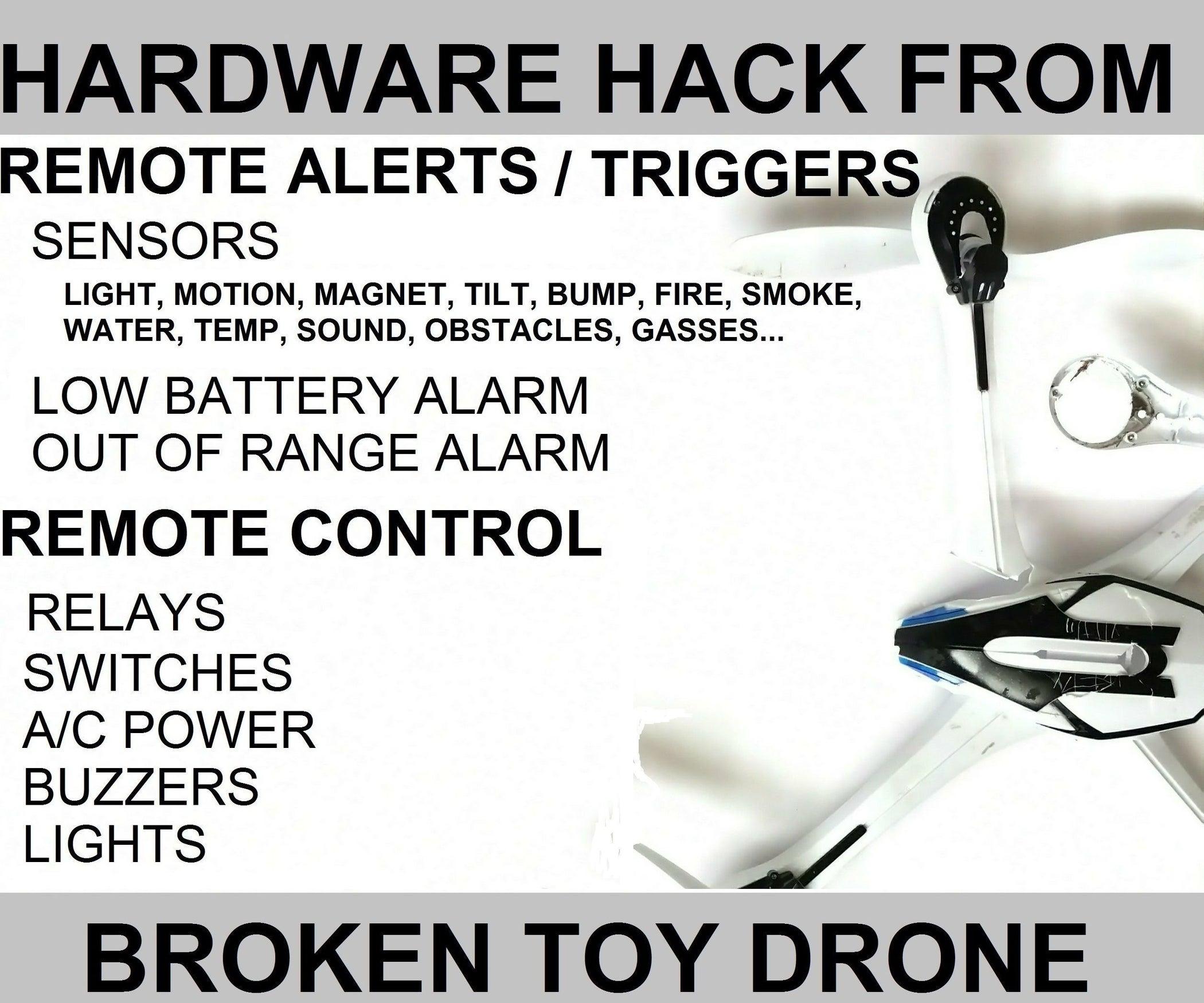 Broken Toy Drone Hardware Hack 12 Steps With Pictures Door Knob Touch Alarm Circuit Controlcircuit Diagram