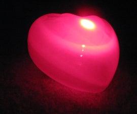 Glowing LED heart light