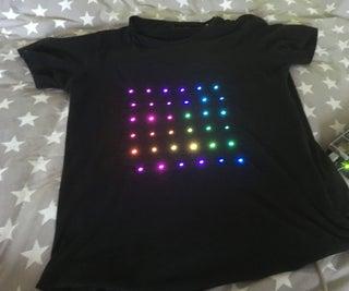 Arduino DIY 6x6 Matrix T-shirt