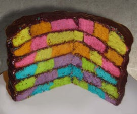 Checkerboard Rainbow Cake