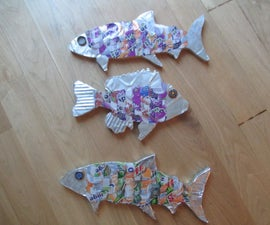 Recycled Fish Wall Art