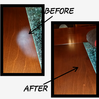 Removing Heat Stain White Marks From a Kitchen Table