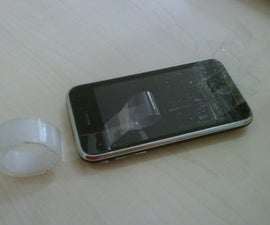 Ghetto suction cup - iPhone 3GS repair tip