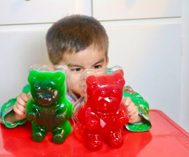 DIY Giant Gummy Bears with JELLO