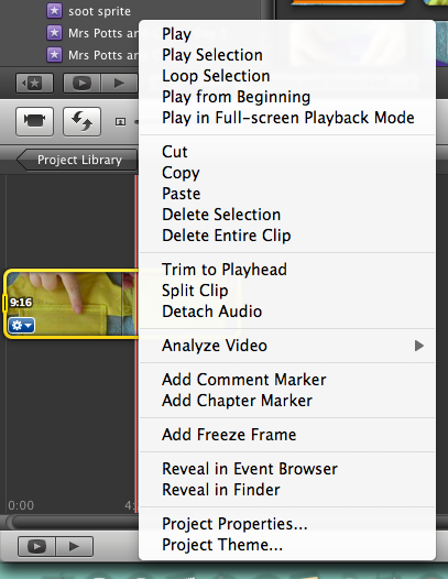 Picture of IMovie Method Part 2