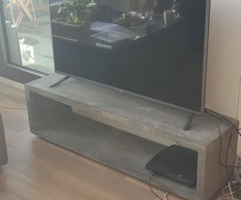 Floating Concrete TV Stand