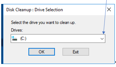Picture of Select the Drive That Needs Cleaned Up