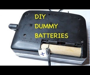 Dummy AA Batteries With AC-Adapter