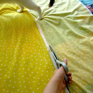 Cut the Skirt Fabric to the Right Height